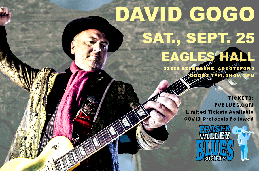 David Gogo, Sat., Sept. 25 @ Eagles Hall
